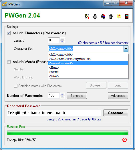 Screenshot 4 of PWGen