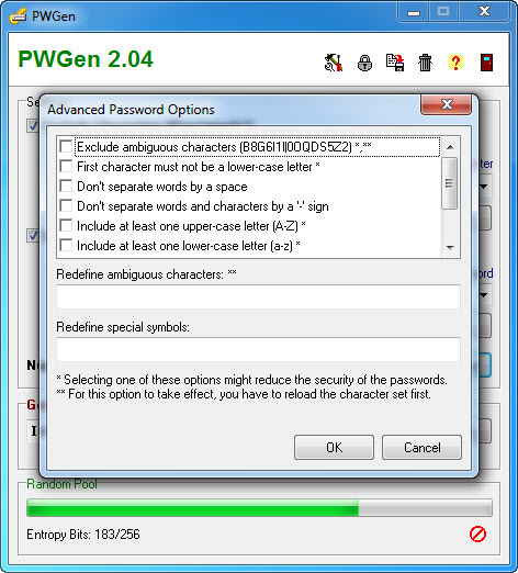 Screenshot 2 of PWGen