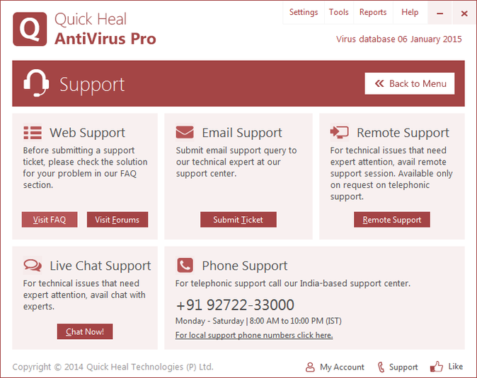Screenshot 2 of Quick Heal AntiVirus Pro