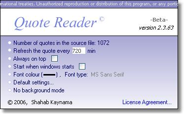 Screenshot 1 of Quote Reader