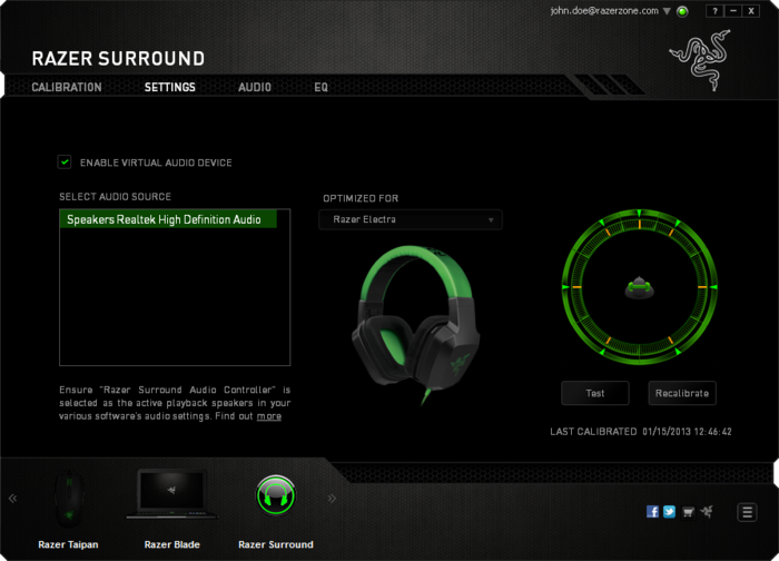 Screenshot 1 of Razer Surround
