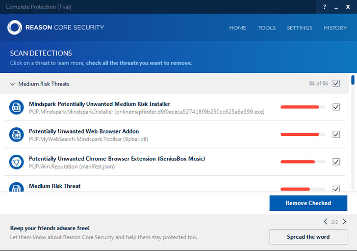 Screenshot 2 of Reason Core Security