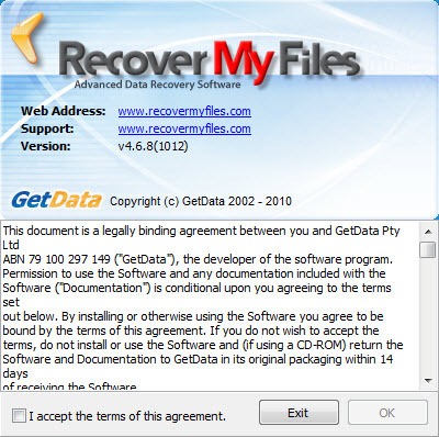 Screenshot 1 of Recover My Files