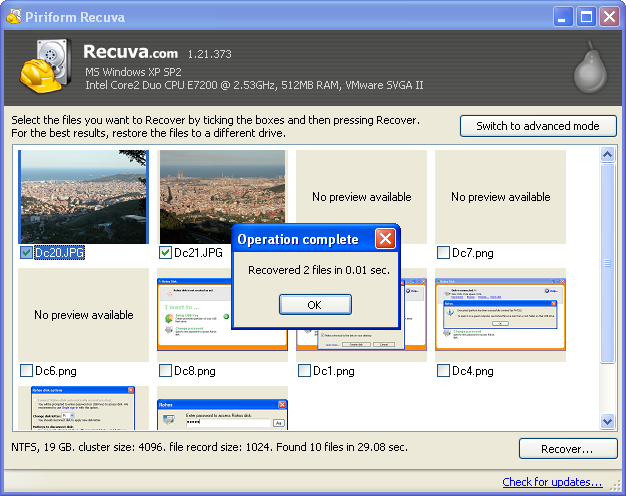 Download Recuva Portable free — NetworkIce com