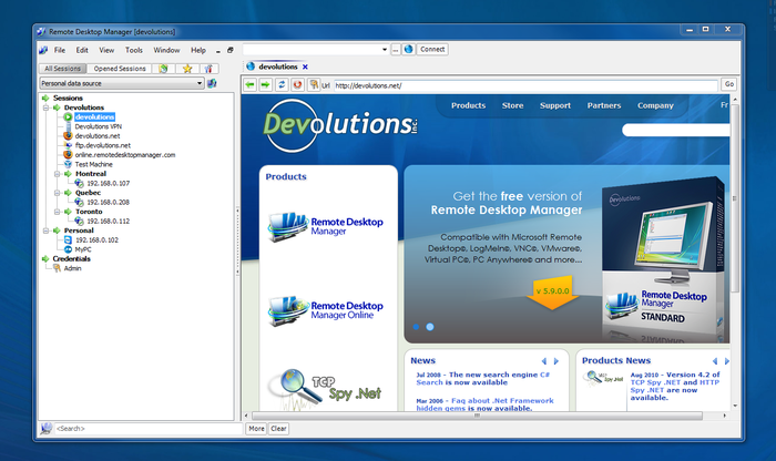 Screenshot 4 of Remote Desktop Manager