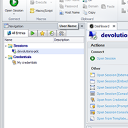 Screenshot 1 of Remote Desktop Manager