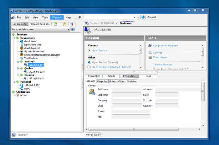Screenshot 3 of Remote Desktop Manager