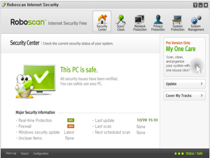Screenshot 1 of Roboscan Internet Security Free (64bit)