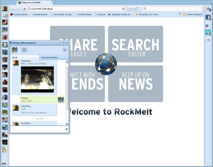 Screenshot 1 of RockMelt