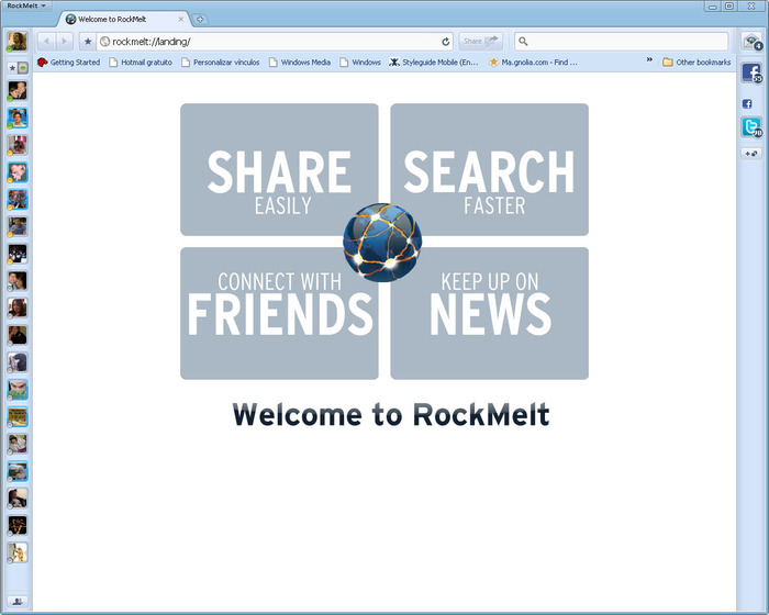 Screenshot 3 of RockMelt