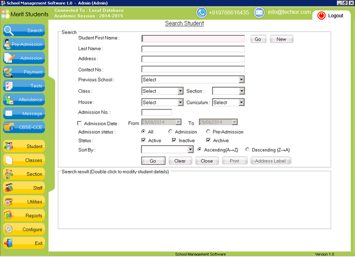Screenshot 2 of School Management Software