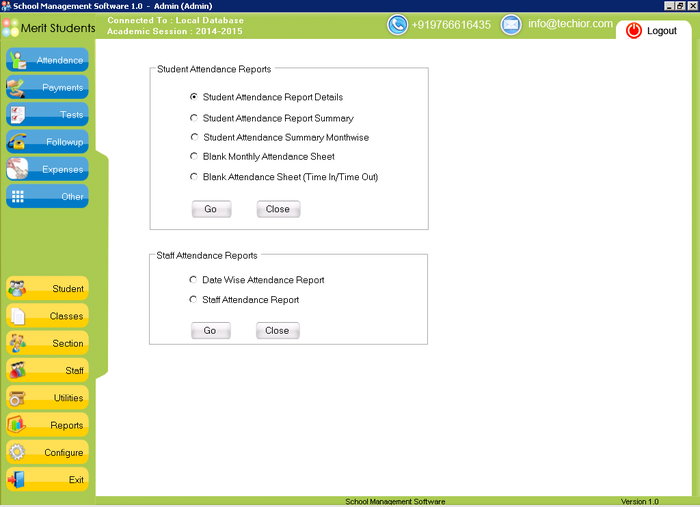 Screenshot 4 of School Management Software
