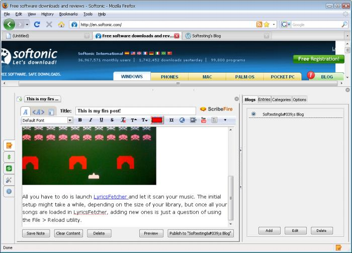 Screenshot 7 of ScribeFire