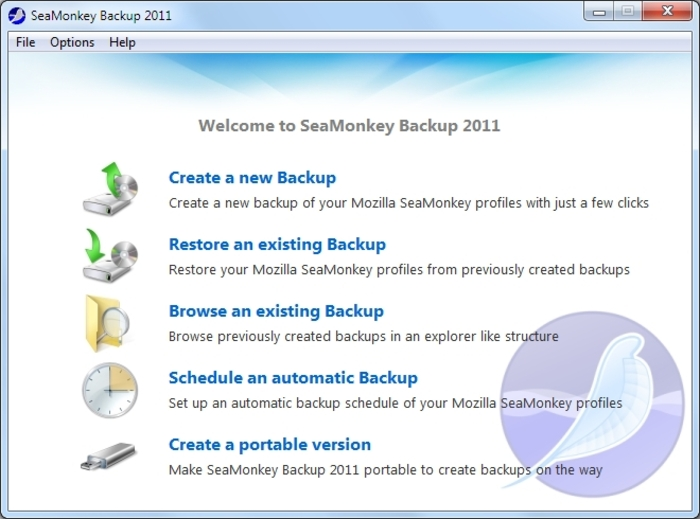 Screenshot 14 of SeaMonkey Backup 2012