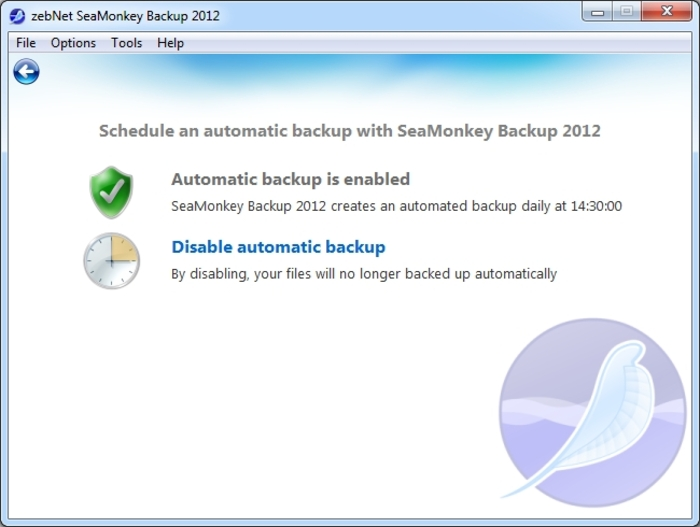 Screenshot 13 of SeaMonkey Backup 2012