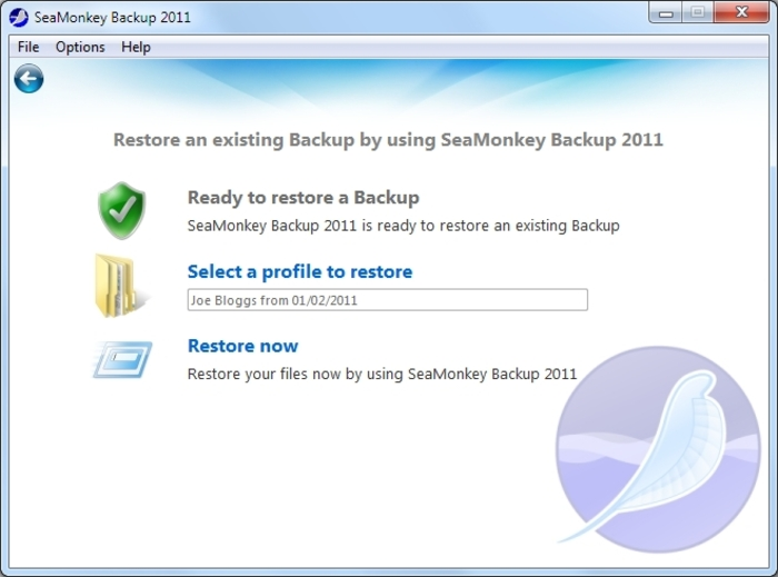 Screenshot 8 of SeaMonkey Backup 2012