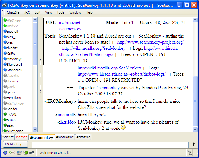 Screenshot 4 of SeaMonkey