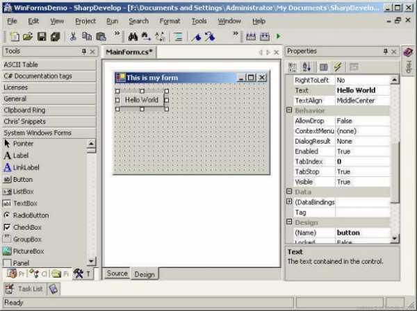 Download SharpDevelop free — NetworkIce com