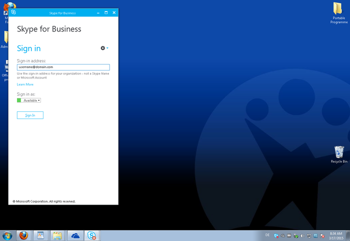 Screenshot 4 of Skype for Business