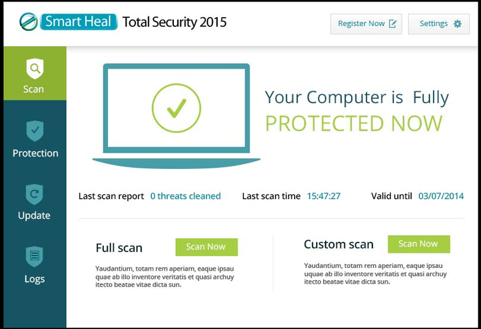 Screenshot 1 of Smart heal Total security