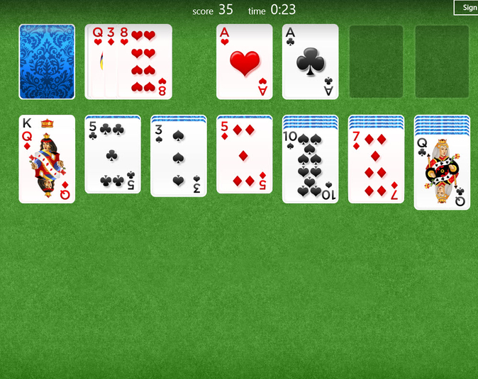 Screenshot 2 of Solitaire for Windows 10