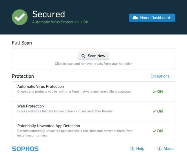 Screenshot 2 of Sophos Home Security Free