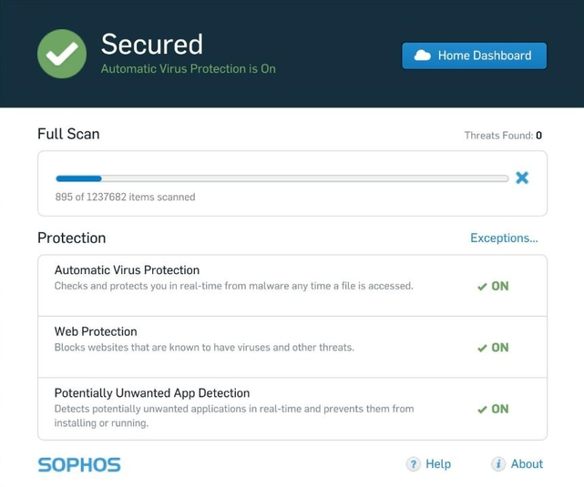 Screenshot 5 of Sophos Home Security Free