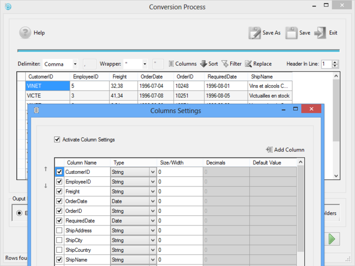 Download Speedy CSV Converter free — NetworkIce com