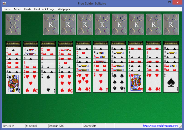 Screenshot 1 of Free Spider Solitaire