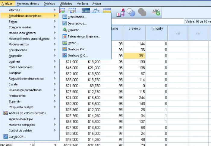 Screenshot 7 of SPSS