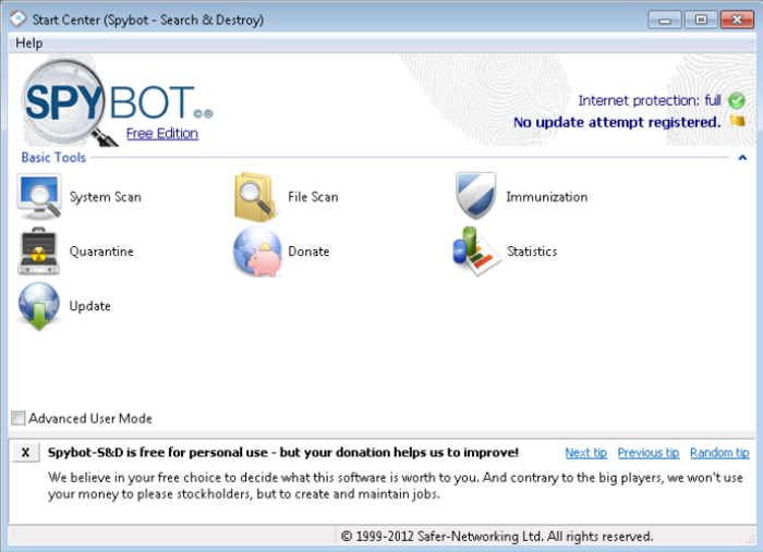 Screenshot 6 of SpyBot Search & Destroy