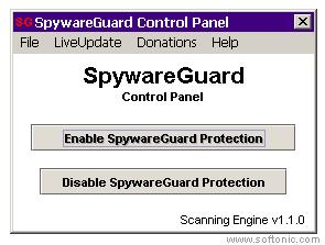 Screenshot 1 of SpywareGuard