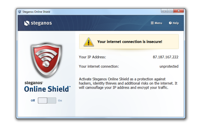 Screenshot 1 of Steganos Online Shield 365