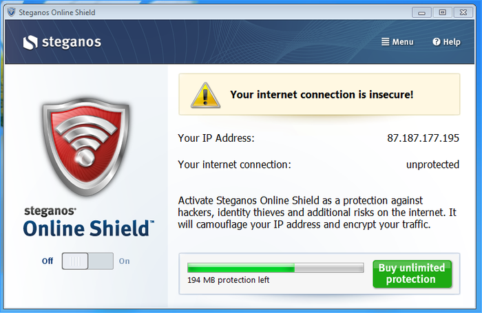 Screenshot 4 of Steganos Online Shield 365