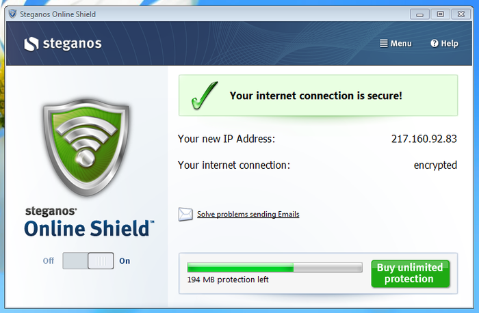 Screenshot 2 of Steganos Online Shield 365
