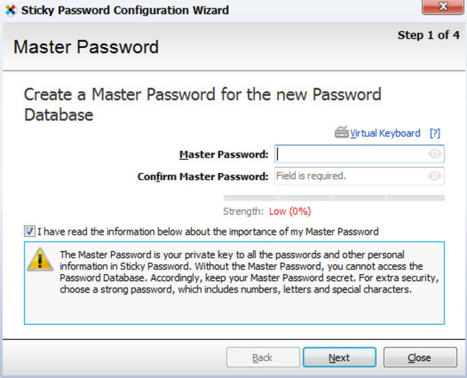 Screenshot 1 of Sticky Password Free