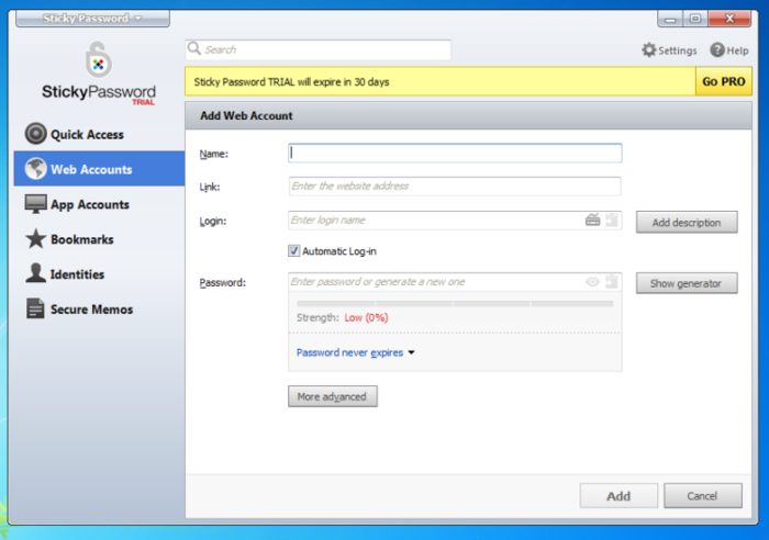 Screenshot 1 of Sticky Password