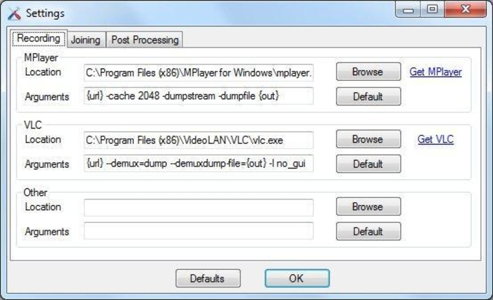 Screenshot 3 of Stream Recorder.NET