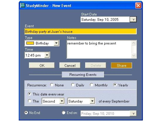 Screenshot 4 of StudyMinder