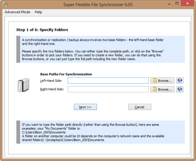 Screenshot 6 of Super Flexible File Synchronizer