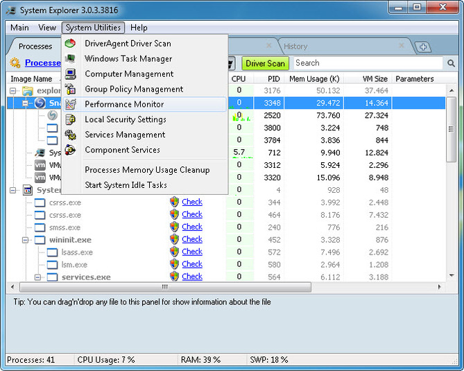 Screenshot 5 of System Explorer