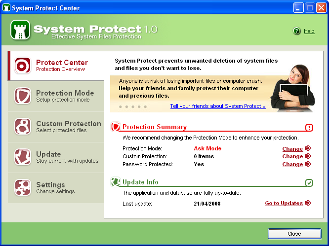 Screenshot 7 of System Protect