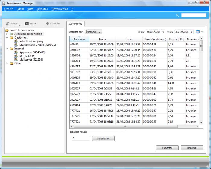 Screenshot 1 of TeamViewer 8