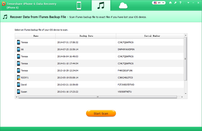 Screenshot 3 of Tenorshare iPhone 6 Data Recovery
