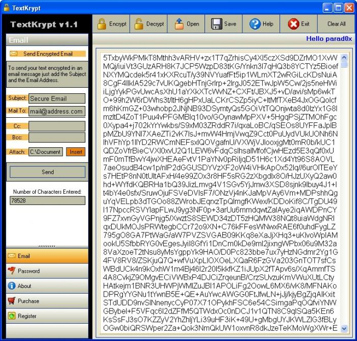 Screenshot 2 of TextKrypt