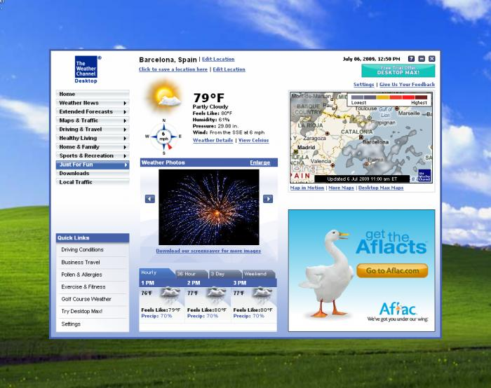Download The Weather Channel Desktop free — NetworkIce com