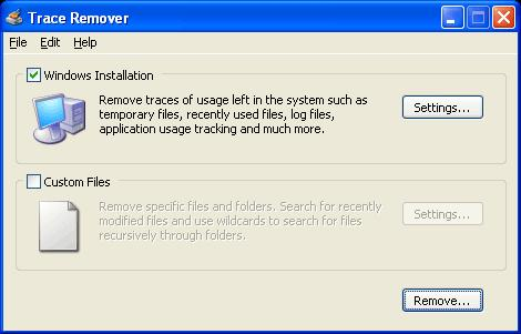 Screenshot 4 of Trace Remover