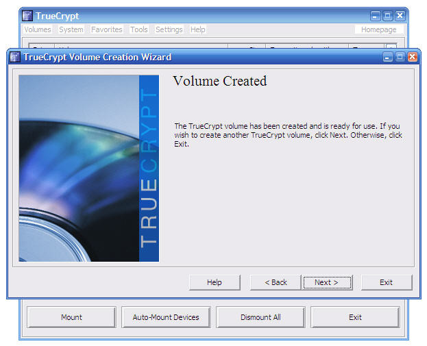 Screenshot 3 of TrueCrypt