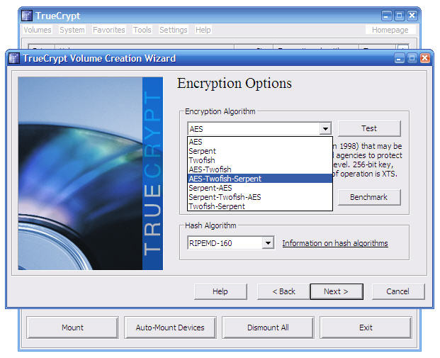 Screenshot 4 of TrueCrypt