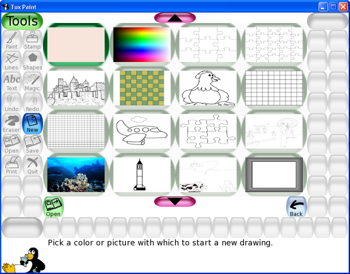 Download Tux Paint free — NetworkIce.com